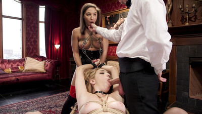 Abella, having done a wonderful job with zoe, is fed torment and rough anal fuck