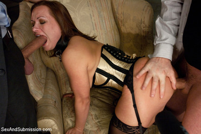 Bottom busty hospitable wife receives dualistic stuffed in bondage!!!