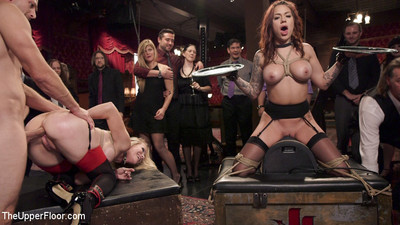 Karmen karma is a rounded slut slave, fit and organized to submit a crowd of sadistic b
