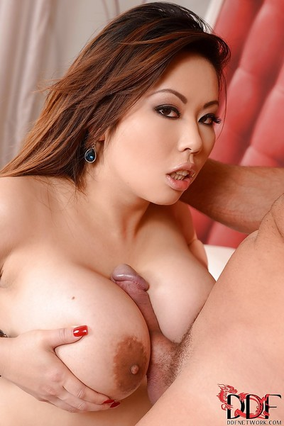 Asian hardcore ride gets her titties and mouth fucked sweetly