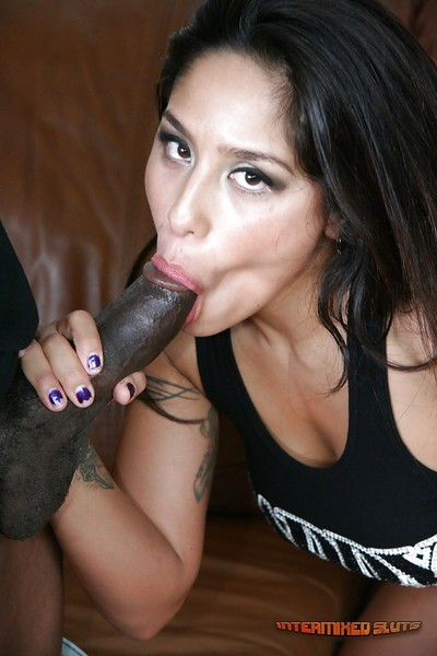 Latina cowgirl Jenaveve Jolie does oral sex and has hardcore sex