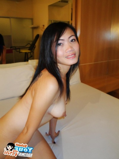 Thai dark brown attains her face and slit bonked