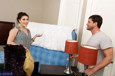 London keyes receives drilled in her light blue underclothes