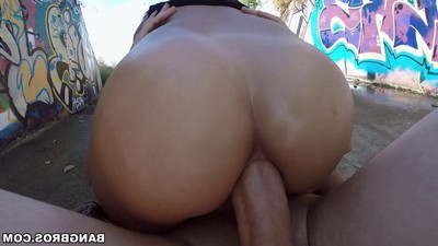 Decadent oriental hotty sharon lee team-fucked in public places