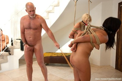 Dualistic extreme wives gain bound up and heavy owned by their husbands