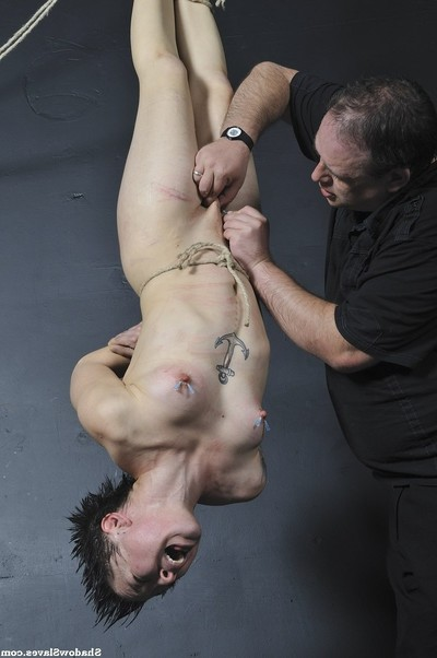 Japanese suspension subjugation and needle torment of mei mara in screaming nipp p