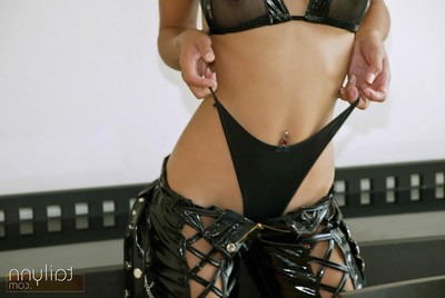 Erotic thai dear tailynn gets undressed from leather outfit