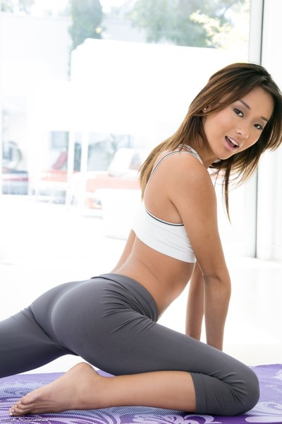 Adriana chechik and alina li acquire unclothed and do yoga