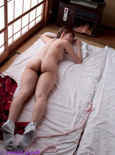 Titsy japanese yuma asami posing in the dojo
