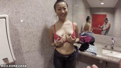 Vietnamese darling sharon lee team-fucked in public