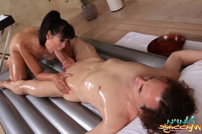 Fabulous angels going untamed with massage