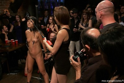 Untamed Japanese model acquires united up and drilled in public
