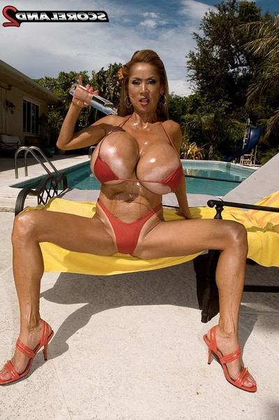 Enormous oil spill on vast titted oriental seasoned minka