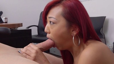 Chinese newbie miko dai at her real porn casting