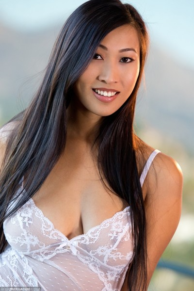 Sweet eastern sharon lee in a wild nightgown devoid of underwear