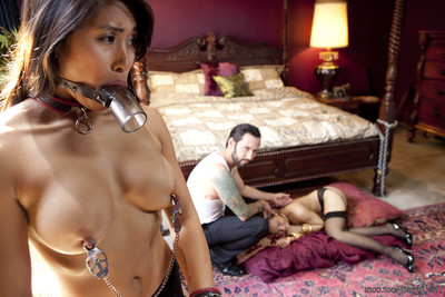 When abode bottom mia li breaks the rules, the ruler of the abode takes gabriell