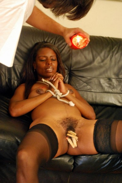 Swarthy fuck and play slavegirl shantes tied cage of love torture and screaming hotwaxing torments