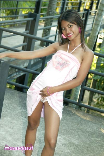 Thai youthful gal upskirt
