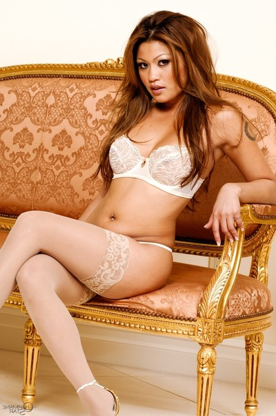 Charmane star posing in untamed underclothes