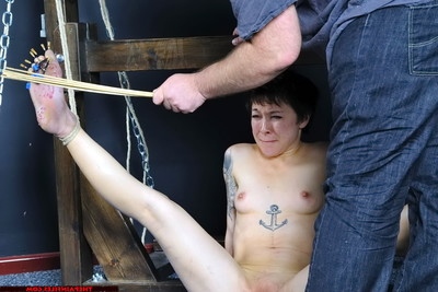 Meis japanese foot ache and needle ache for ache slut sole whipping slavegirl in