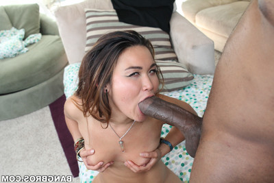 Oriental drilled by hung ebony dude