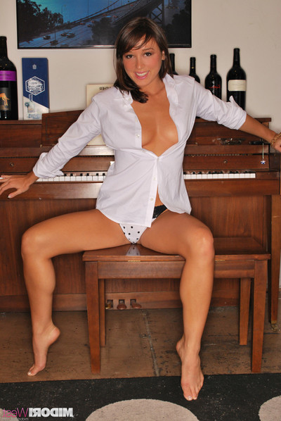Midori west striptease by the piano