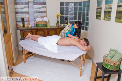 Marica hase acquires her slippery slit slammed on the massage tabl