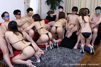 Japanese bukkake fuckfest porn photos