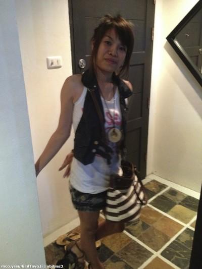 Damp thai bargirl bareback no fuck-rubber creampie love making act tourist attracted to Japanese hottie