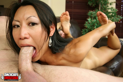 Tia ling puking from taking in dick and heaving it in her gullet