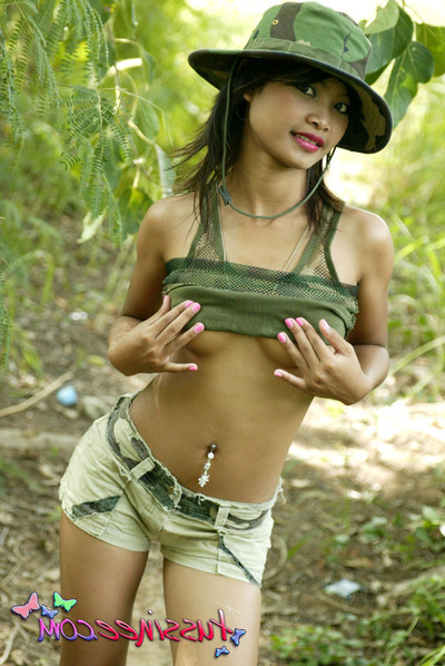 Thai young lass in camo