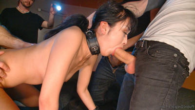 Japanese floozy marica is shamed in an full-grown store in stomach of a group of lustful gu
