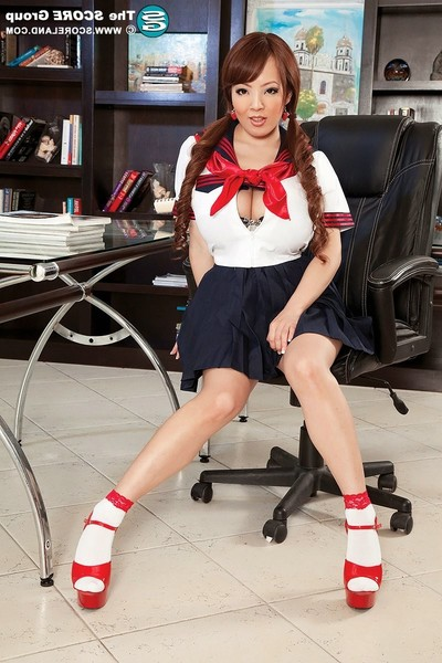 Largest boobed oriental hitomi tanaka in schoolgirl outfit