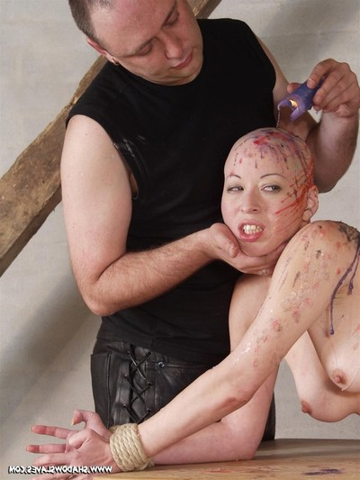 Asian sadomasochism and forceful hotwax control of skinhead chinese slavegirl kumimonste