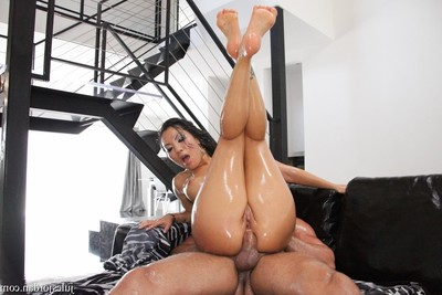 Asa akira has her Chinese arse impaled by a gigantic jock