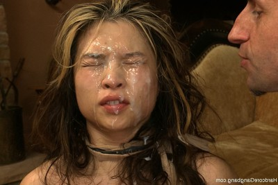 Sadomasochism orgy  sticky Japanese beauty with massive normal apples is screwed in airtight penetr