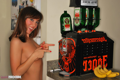 Midori west with jagermeister ejected machine