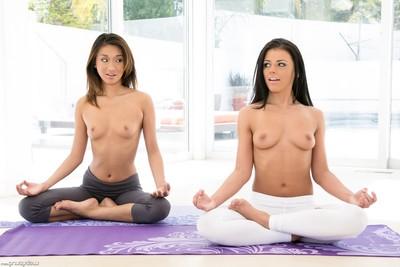 Alina li and adriana chechik exposed yoga