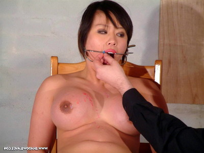Eastern pain freak punished in hardcore needle fuck and play and fur pie soreness of boobsy j