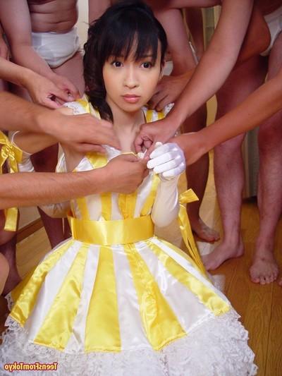 Japanese youthful getting team-banged