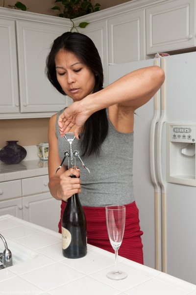 woman max makita removes clothes despite the fact drinking wine
