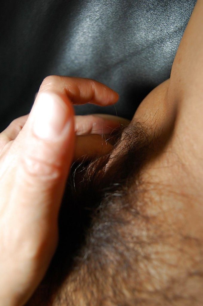 Japanese milf with furry love-cage Chie Kaneko is stroking in close up