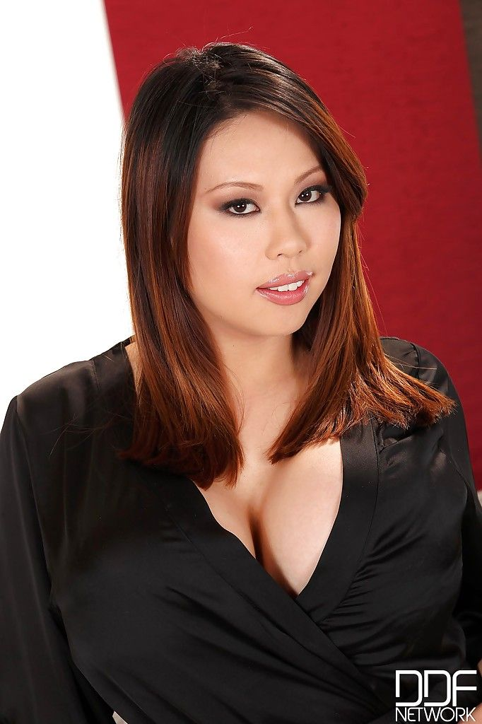 Fatty asian with largest melons Tigerr undressing her firm plump body
