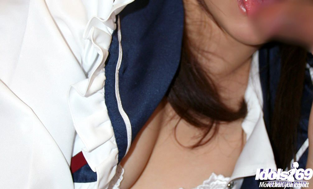 Raunchy Chinese schoolgirl with rough tit buttons and curly love-cage disrobes