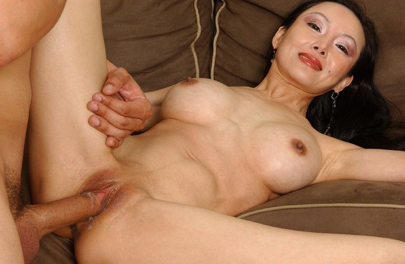 Juggy Chinese MILF Ange Venus gives head and attains her bald slit slammed