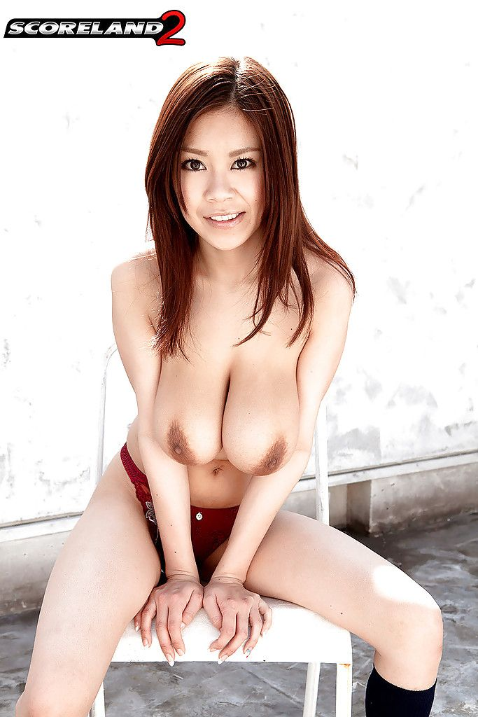 Redhead Oriental nice Ria Sakuragi exposing massive pointer sisters and upskirt strings
