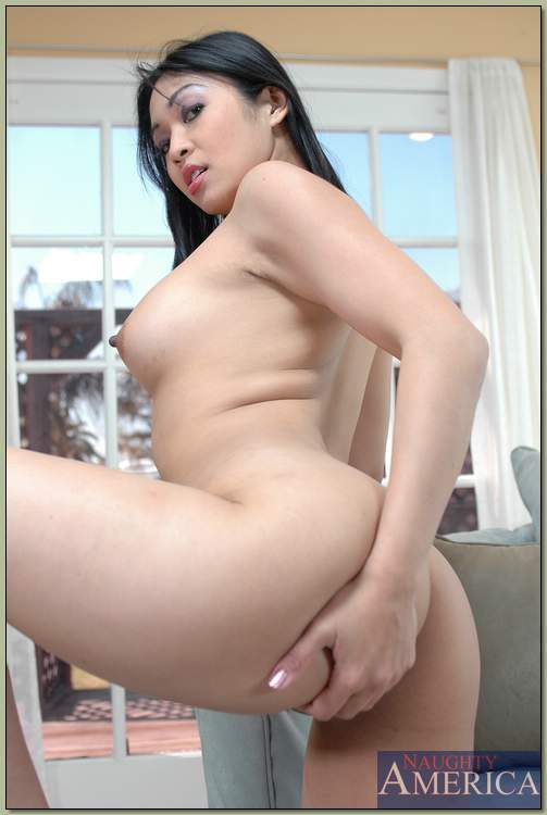 Hot Japanese babe Mika Tan erotic dancing from underclothing and posing bare