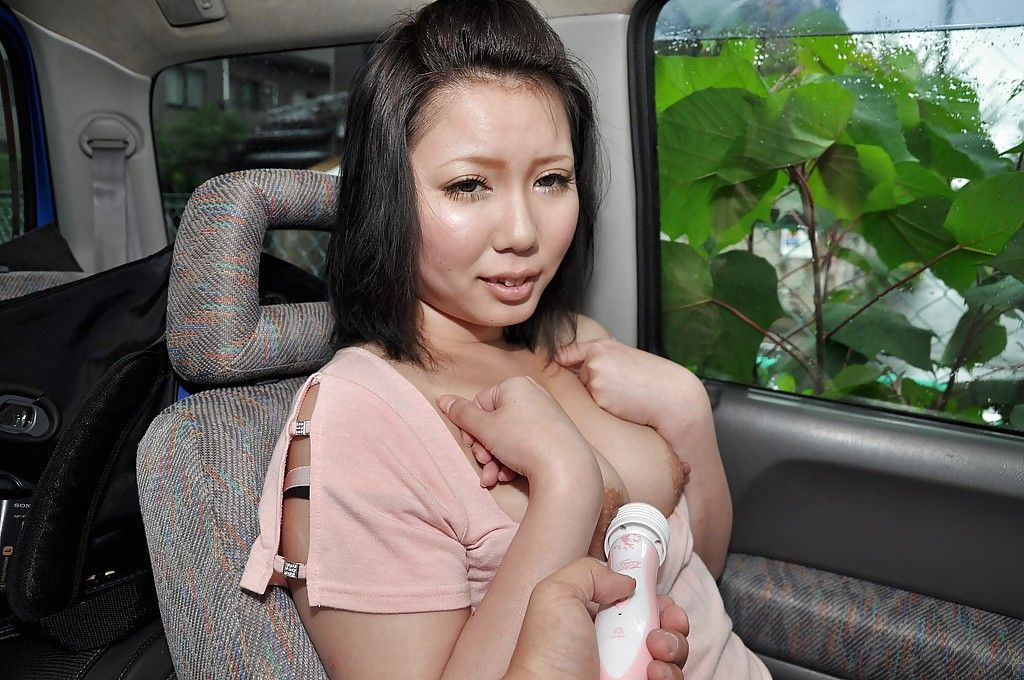 Japanese lady Aya Uchiyama attains involved loves sex-aids play in the car