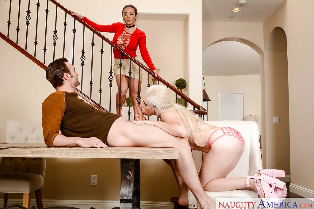 Decadent wife Niki Snow enlists a rounded Japanese hottie for MMF