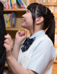 Japanese schoolgirl sucks advisor in the way & sleeps with him in the hallway